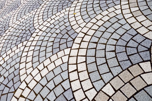 walkway tiling paved by Werribee Landscaping
